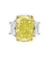 Кольцо с бриллиантом 17.97-ct Fancy Intense Yellow / VVS1